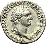 obverse:  Domiziano Cesare (69-81). Denario, 80 d.C.