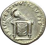 reverse:  Domiziano Cesare (69-81). Denario, 80 d.C.