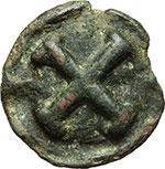 reverse:  Apulia, Luceria   Quincunx, serie ridotta, ca. 217-212 a.C.