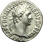 obverse:  Domiziano (81-96). Denario, ca. 93-94.