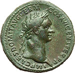 obverse:  Domiziano (81-96). Sesterzio, ca. 92-94.