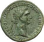 obverse:  Domiziano (81-96). Sesterzio, 92-94.
