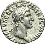 obverse:  Nerva (96-98). Denario, 97 d.C.