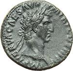 obverse:  Nerva (96-98). Asse, ca. 97 d.C.