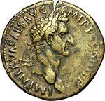 obverse:  Nerva (96-98). Sesterzio, 97 d.C.