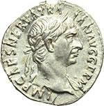 obverse:  Traiano (98-117). Denario, 100 d.C.