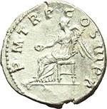 reverse:  Traiano (98-117). Denario, 100 d.C.