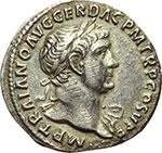 obverse:  Traiano (98-117). Denario, 104-111.