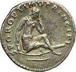 reverse:  Traiano (98-117). Denario, 104-111.