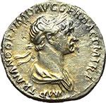 obverse:  Traiano (98-117). Denario, 114-117.