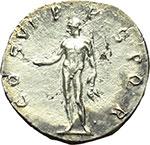 reverse:  Traiano (98-117). Denario, 114-117.
