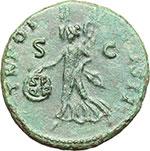 reverse:  Traiano (98-117). Asse, ca. 98-99.