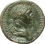 obverse:  Traiano (98-117). Sesterzio, 114-117.