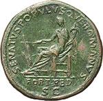 reverse:  Traiano (98-117). Sesterzio, 114-117.