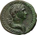 obverse:  Traiano (98-117). Sesterzio.