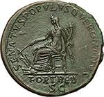 reverse:  Traiano (98-117). Sesterzio.