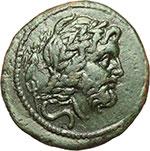 obverse:  Apulia meridionale, Brundisium   Semisse, II secolo a.C.