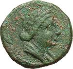 obverse:  Apulia meridionale, Hyria   Teruncius, c. 210-150 a.C.