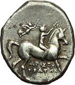 obverse:  Calabria, Tarentum   Nomos, ca. 272-240 a.C.