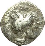 obverse:  Lucania, Heraclea    Diobolo, ca. 433-330 a.C.