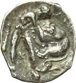 reverse:  Lucania, Heraclea    Diobolo, ca. 433-330 a.C.