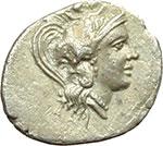 obverse:  Lucania, Thurium   Triobolo, ca. 350-300 a.C.