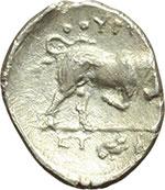 reverse:  Lucania, Thurium   Triobolo, ca. 350-300 a.C.