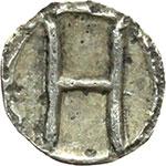 reverse:  Bruttium, Rhegium   Emilitra, ca. 415-387