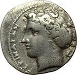 obverse:  Bruttium, Terina   Dracma, ca. 300 a.C.