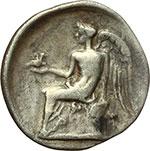 reverse:  Bruttium, Terina   Dracma, ca. 300 a.C.