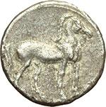 reverse:  Bruttium, zecca incerta  Annibale. Quarto di shekel, 216-211 a.C.