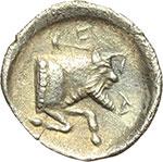 reverse:  Gela   Litra, ca. 465-450 a.C.
