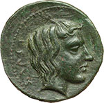 reverse:  Gela   Tetras, ca. 420-405 a.C.