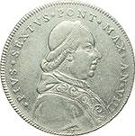 obverse:  Bologna  Pio VI (1775-1799), Giovanni Angelo Braschi Scudo romano da 100 Bolognini 1782 a. VIII.