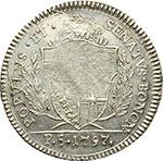 obverse:  Bologna  Governo Popolare (1796-1797) Mezzo scudo o 5 paoli 1797.