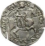 reverse:  Carmagnola  Ludovico II (1465-1504) Cavallotto da 3 grossi.