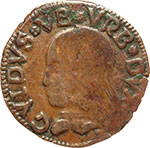obverse:  Casteldurante  Guidobaldo I di Montefeltro (1482-1508) Quattrino
