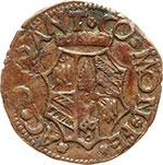 reverse:  Casteldurante  Guidobaldo I di Montefeltro (1482-1508) Quattrino