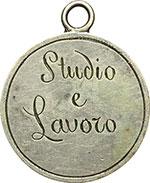 reverse:  Cesena  Scuole Elementari Maschili Medaglia 1867 Studio e Lavoro