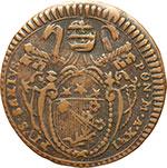obverse:  Foligno  Pio VI (1775 -1799) Mezzo baiocco 1795 A. XXI