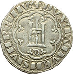obverse:  Genova  Simon Boccanegra, doge I (1339-1344) Grosso, III tipo.