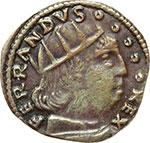 obverse:  L Aquila  Ferdinando I d Aragona (1458-1494) Cavallo.