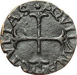 reverse:  L Aquila  Carlo VIII (1495). Cavallo.
