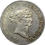 obverse:  Lucca e Piombino  Elisa Bonaparte e Felice Baciocchi (1805-1814) 5 franchi 1808.