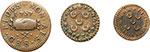 reverse:  Malta  Fra Emmanuel Pinto (1741-1773). Lotto di 3 monete: grano 1747 e 1757 rispettivamente di grande e piccolo flan, carlino 1757.