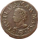 obverse:  Mantova  Carlo I (1627-1637) Soldo