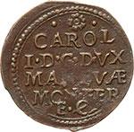 reverse:  Mantova  Carlo I (1627-1637) Soldo