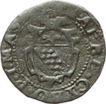 obverse:  Massa di Lunigiana  Alberico I Cybo Malaspina (1568-1623) Duetto da 2 soldi 1596
