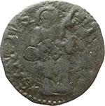 reverse:  Massa di Lunigiana  Alberico I Cybo Malaspina (1568-1623) Duetto da 2 soldi 1596