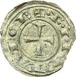 obverse:  Messina  Federico II (1197-1250) Mezzo denaro 1221